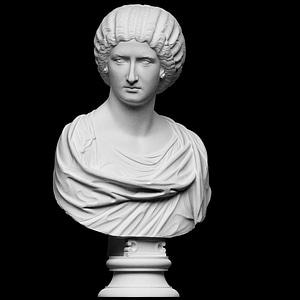 Portrait of a noble lady 3D Model