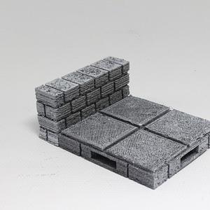 OpenForge Cut-Stone OpenLOCK Half Height Walls 3D Model
