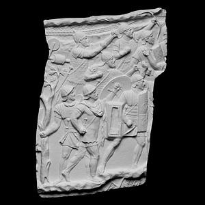 Roman Soldiers Attacking Trajan's Colum 3D Model