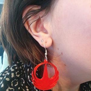 Rogue One Earrings 3D Model