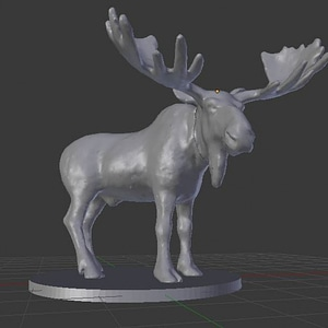 Moose Miniature 3D Model
