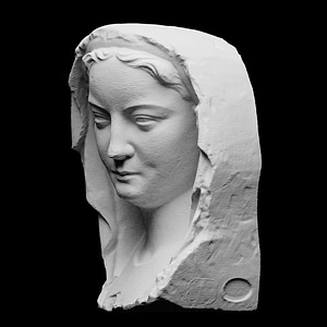 Head of a wise virgin 3D Model