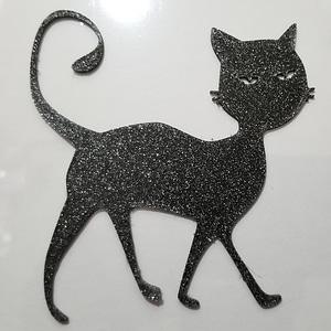Halloween Black Cat Silhouette 3D Model