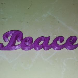 Peace Script Ornament 3D Model