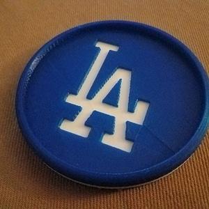 LA Dodgers Coaster 3D Model