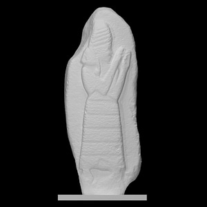 Stele of the protective goddess Lama 3D Model