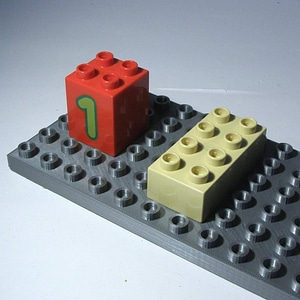 Lego Duplo Compatible Base 6x12 3D Model