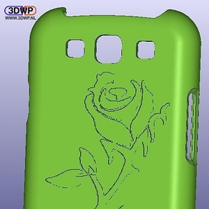 Samsung Galaxy S3 Rose Case 3D Model