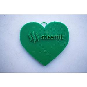 Steemit Heart Keychain 3D Model