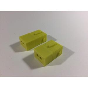 Peugeot 2 pin plug connector 3D Model