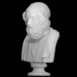 Portrait of Homer, Blind type 3D Model