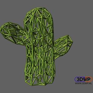 Voronoi style Cactus Pattern 3D Model