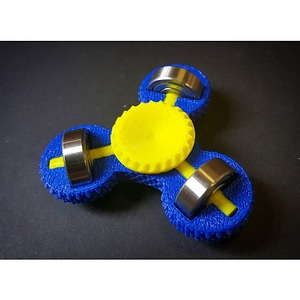 Knurled Tri-Side Spinner 3D Model