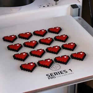 8-Bit Heart 3D Model