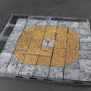 Dynamic Floor Wood Faces 3D Model
