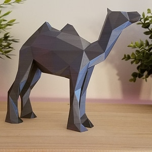 Low Poly Camel 3D Model