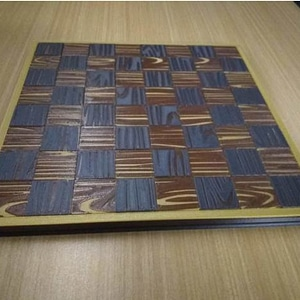 Travel-size Woodgrain Checkers Set 3D Model