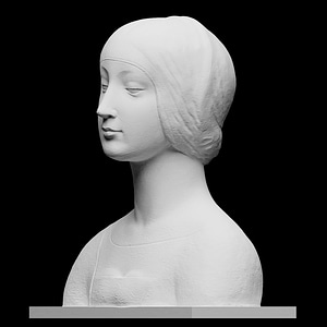 Female Bust, probably Isabella of Aragon 3D Model