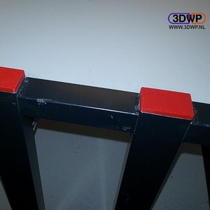 Rectangular Tube End Cap 3D Model