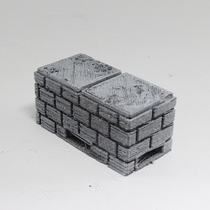 OpenForge Cut-Stone OpenLOCK Half Height Risers 3D Model