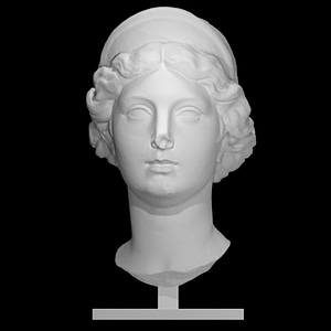 Woman with a Tiara 3D Model