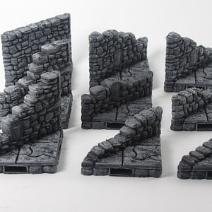 Ruined Diagonal Walls 3D Model