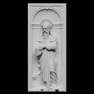 Statue of Saint Jerome (Hieronymus) 3D Model