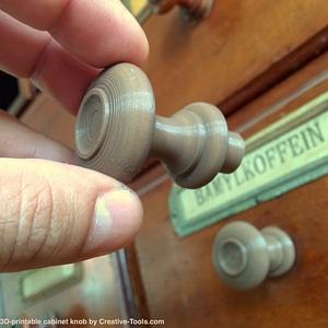 Generic cabinet knob 3D Model