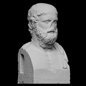 Greek Poet Anakreon 3D Model