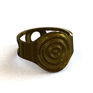 Ring circles 3D Model