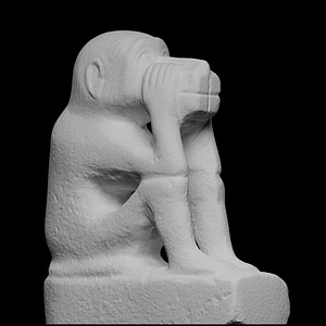 Figure of a squatting monkey 3D Model
