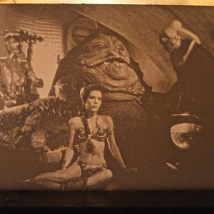 Princess Leia Slave scene Lithophane 3D Model