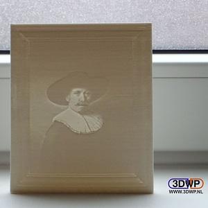 The Next Rembrandt Lithophane 3D Model