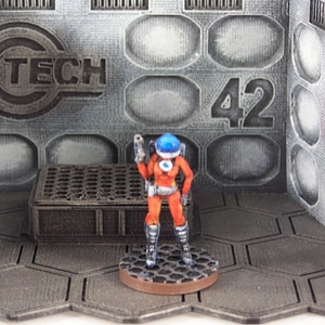 Space Girl (28mm Miniature) 3D Model