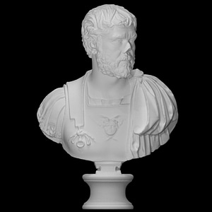 Bust of a cuirass man 3D Model