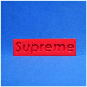 supreme box logo 3D Model