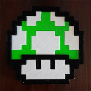 Mario mushroom 3D Model