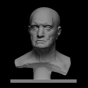 Marble bust of a man 3D Model