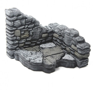 Ruined Rectangular Walls 3D Model