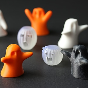 Modelo 3D de Halloween Ghosts & Pumpkins Set