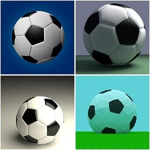 Football (Soccer) Balls 3D Model