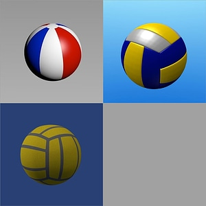 Volleyball and Beach Balls 3D Model