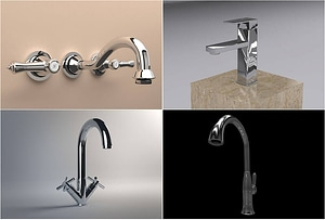 Set of Faucets 3D 모델