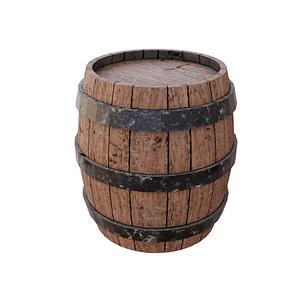 Дерев'яна бочка 3D-модель