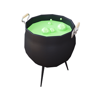 Bubbling Cauldron 3D Model