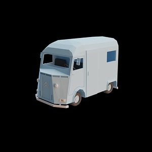 Citroen Old Van 3D Model