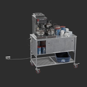 Coffee Cart 3D Model