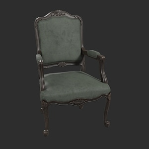 Green Chair 3D Model