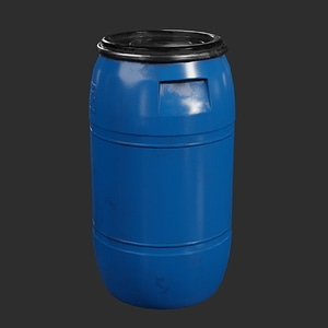 Blue Barrel 3D Model