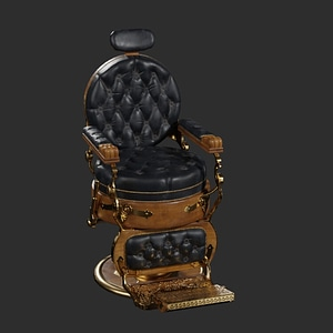 Modello 3D di Barber Shop Chair